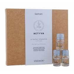 Лосьон против выпадения волос для мужчин Kemon Actyva P Factor Lotion Uomo Intensive 12x6 ml