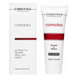 Маска-пленка для лица от черных точек Christina Comodex Extract & Refine Peel-off Mask 75 ml