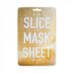 Маска-слайс для лица Банан (2 листа по 6 шт) Kocostar SLICE MASK SHEET (Banana) 2x6 pc