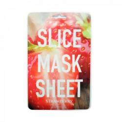 Маска-слайс для лица Клубника (2 листа по 6 шт) Kocostar SLICE MASK SHEET (Strawberry) 2x6 pc