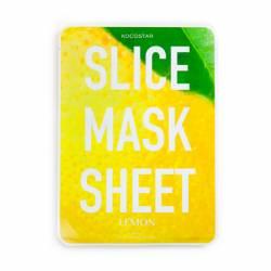 Маска-слайс для лица Лимон (2 листа по 6 шт) Kocostar SLICE MASK SHEET (LEMON) 2x6 pc