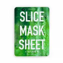 Маска-слайс для лица Огурец (2листа по 6 шт) Kocostar SLICE MASK SHEET (CUCUMBER) 2x6 pc