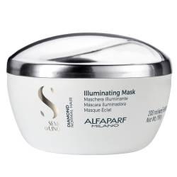 Маска для блеска волос с микрокристалами ALFAPARF Semi Di Lino Diamond Illuminating Mask 200 ml