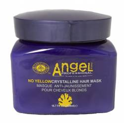 Маска для нейтрализации желтого пигмента Angel Professional No Yellow Crystalline Hair Mask 500 ml