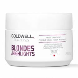 Маска для осветленных и мелированных волос Goldwell Dualsenses Blondes & Highlights 60 sec Treatment 200 ml
