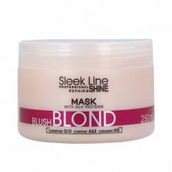 Маска для светлых волос с розовым тонирующим эффектом Stapiz Sleek Line Blush Blond Hair Mask 250 ml