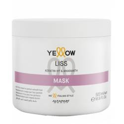 Маска для выпрямления волос Alfaparf Yellow Liss Keratin-HT and Amaranth Mask 500 ml