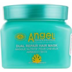 Маска двойного действия для восстановления и питания поврежденных волос Angel Professional Dual Repair Mask 500 ml