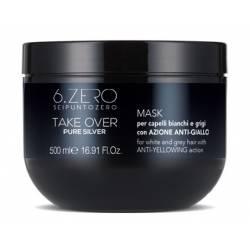 Маска с анти-желтым эффектом 6. Zero Seipuntozero Take Over Pure Silver Mask 500 ml