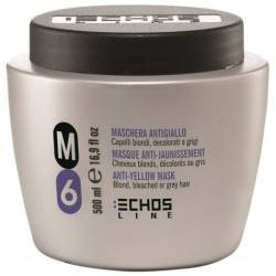Маска с антижёлтым эффектом для осветлённых и седых волос Echosline 500 ml