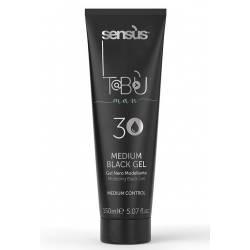 Моделирующий мужской черный гель для волос Sens.us Tabu Man Medium Black Gel 3, 150 ml