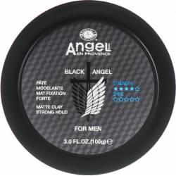 Мужская матовая глина сильной фиксации Angel Professional Black Angel Matte Clay Strong Hold 100 ml