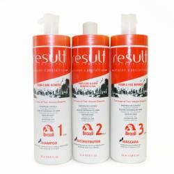 Набор кератиновое выпрямление и восстановление волос  (шаг 1 + шаг 2 + шаг 3) Result Professional FOUR-C EKO KERATIN 3x1 L