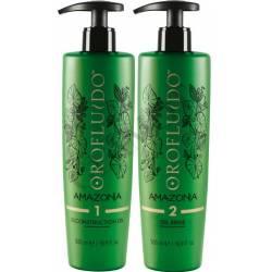 Набор (500 ml+500 ml)масло+очищающее ср-во Revlon Professional Orofluido Amazonia Reconstruction