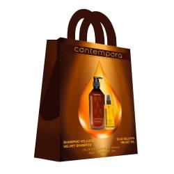 Набор для волос Сияющий Бархат Contempora (500 ml+75 ml)