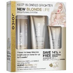 Набор подарочный (Шампунь+Кондиционер+Маска для сохранения яркости блонда) Joico Blonde Life Brightening 3x50 ml