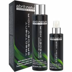 Набор против жирной кожи головы Abril et Nature Greasy Hair Treatment Kit 250 ml +100 ml