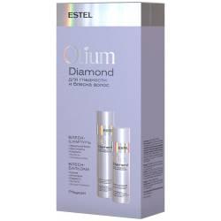 Набор шампунь 250 мл. + бальзам для гладкости и блеска волос 200 мл. Estel Professional Otium Diamond