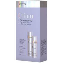 Набір шампунь 250 мл. + Бальзам для гладкості і блиску волосся 200 мл. Estel Professional Otium Diamond
