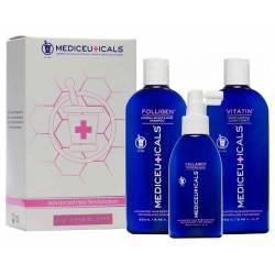 Набор женский для стимуляции роста тонких волос Mediceuticals For Women Kit Fine (2х250 ml+125 ml)