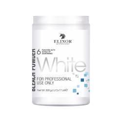 Осветляющая пудра (белая) банка Elinor Professional Bleach White Powder 500 g
