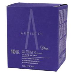 Осветляющая пудра до 10 тонов Artistic Hair All Tech Blue Bleaching Powder 10 Tones 500 g