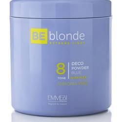 Осветляющая пудра экстремальный блонд (безаммиачная) Emmebi Be Blonde Blue 8, 500 g