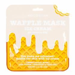 Освежающая и смягчающая вафельная маска для лица Сливочное Мороженое (1 шт) Kocostar Waffle Mask (Ice Cream) 1 pc