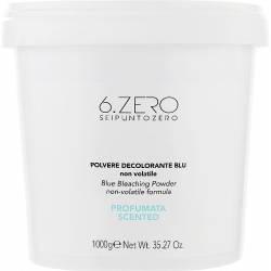 Парфюмированный осветляющий порошок голубого цвета 6. Zero Seipuntozero Scented Blue Compact Bleaching Powder 1000 g