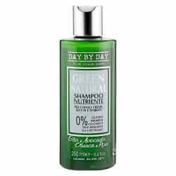 Питательный шампунь для вьющихся, сухих и поврежденных волос Alan Jey Green Natural Nutriente Shampoo 250 ml
