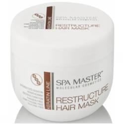 Реструктурирующая маска с кератином и кокосовым маслом Spa Master Keratin Line Restructure Hair Mask 500 ml