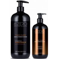Шампунь для сухих и тусклых волос 6. Zero Seipuntozero Take Over Absolute Rich & Shine Shampoo 500 ml