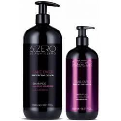 Шампунь для защиты цвета окрашенных волос 6. Zero Seipuntozero Take Over Protective Color Shampoo 500 ml
