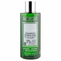 Шампунь очищающий для жирных волос с перхотью Alan Jey Green Natural Shampoo Purificante 250 ml