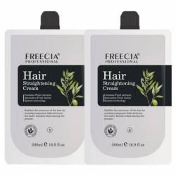 Состав для перманентного выпрямления с фруктовыми экстрактами FREECIA Hair Straightening Cream 2x500 ml