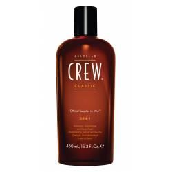 Средство по уходу за волосами и телом 3 в 1 American Crew Classic 3-in-1 Shampoo, Conditioner&Body Wash 450 ml