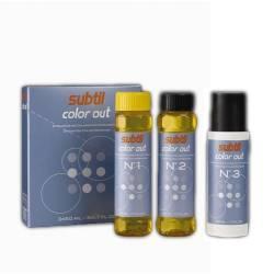 Subtil color out средство для удаления искусственного пигмента с волос; 3 фазы по 50 мл.