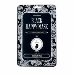 Тканевая маска для лица (1 шт) Kocostar Black Happy Mask 1 pc