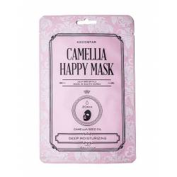 Тканевая маска для лица (1 шт) Kocostar Camellia Happy Mask 1 pc