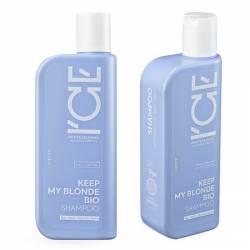 Тонирующий шампунь для светлых волос с антижелтым эффектом ICE Professional by Natura Siberica Keep my Blonde Bio Shampoo Anti-Yellow 250 ml