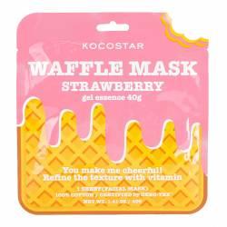 Тонизирующая вафельная маска для лица Клубничный Фреш (1 шт) Kocostar Waffle Mask (Strawberry) 1 pc