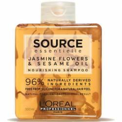 Увлажняющий шампунь для сухих волос Жасмин и Кунжут L'Oreal Professionnel Source Essentielle 300 ml