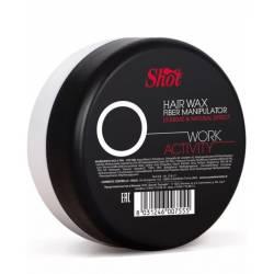 Воск-манипулятор с экстремальным и натуральным эффектом Shot Work Activity Hair Wax Fiber Manipulator 100 ml