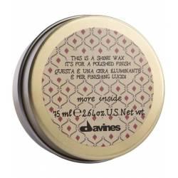 Воск для блеска и полирования волос Davines More Inside Shine Wax 75 ml
