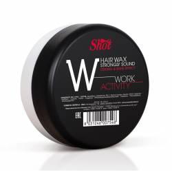 Воск сильной фиксации и эффектом блеска Shot Work Activity Hair Wax Strongly Sound Strong Shine Effect 100 ml