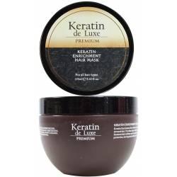 Восстанавливающая маска с кератином De Luxe Keratin Premium Enrichment Mask 250 ml