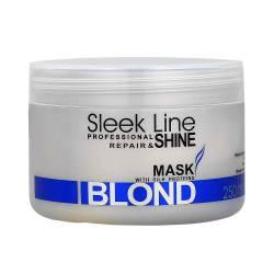 Восстанавливающая маска с шелком для светлых волос Stapiz Sleek Line Repair & Shine Blond Mask 250 ml